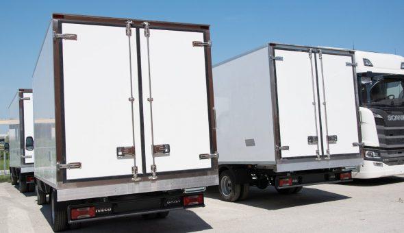 Parco van furgoni frigo isotermici Isobox